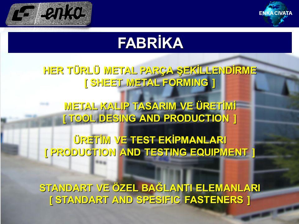 FABRİKA HER TÜRLÜ METAL PARÇA ŞEKİLLENDİRME [ SHEET METAL FORMING ]